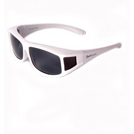 Polarised White Overglasses